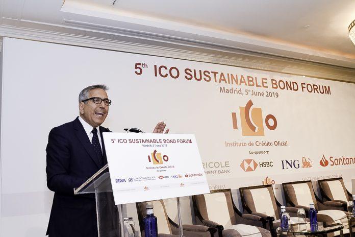 José Carlos García de Quevedo , presidente del ICO en la inauguración del Sustainable Bond Forum