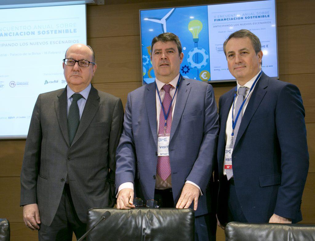 De izquierda a derecha José María Roldán, Julián Romero y Antoni Ballabriga