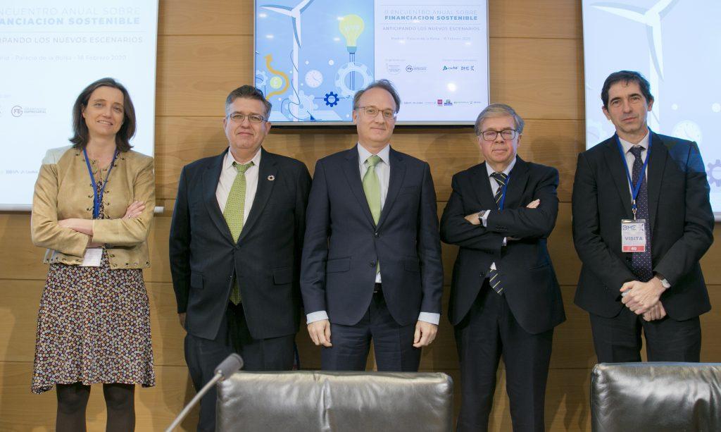 De izquierda a derecha Verónica Romaní, José Manuel Marqués, Roberto Fernández Albendea, Carlos Barrientos y Carlos Mataix