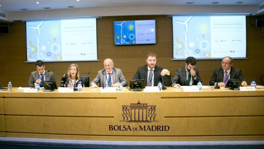 De izquierda a derecha Ignacio Vicente, Rosa del Moral, Javier Arnaez, Ricardo Pedraz, Rodrigo Robledo y Eduardo Serra